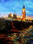 George Ganciu Stories On Canvas - Caída la noche sobre Westminster