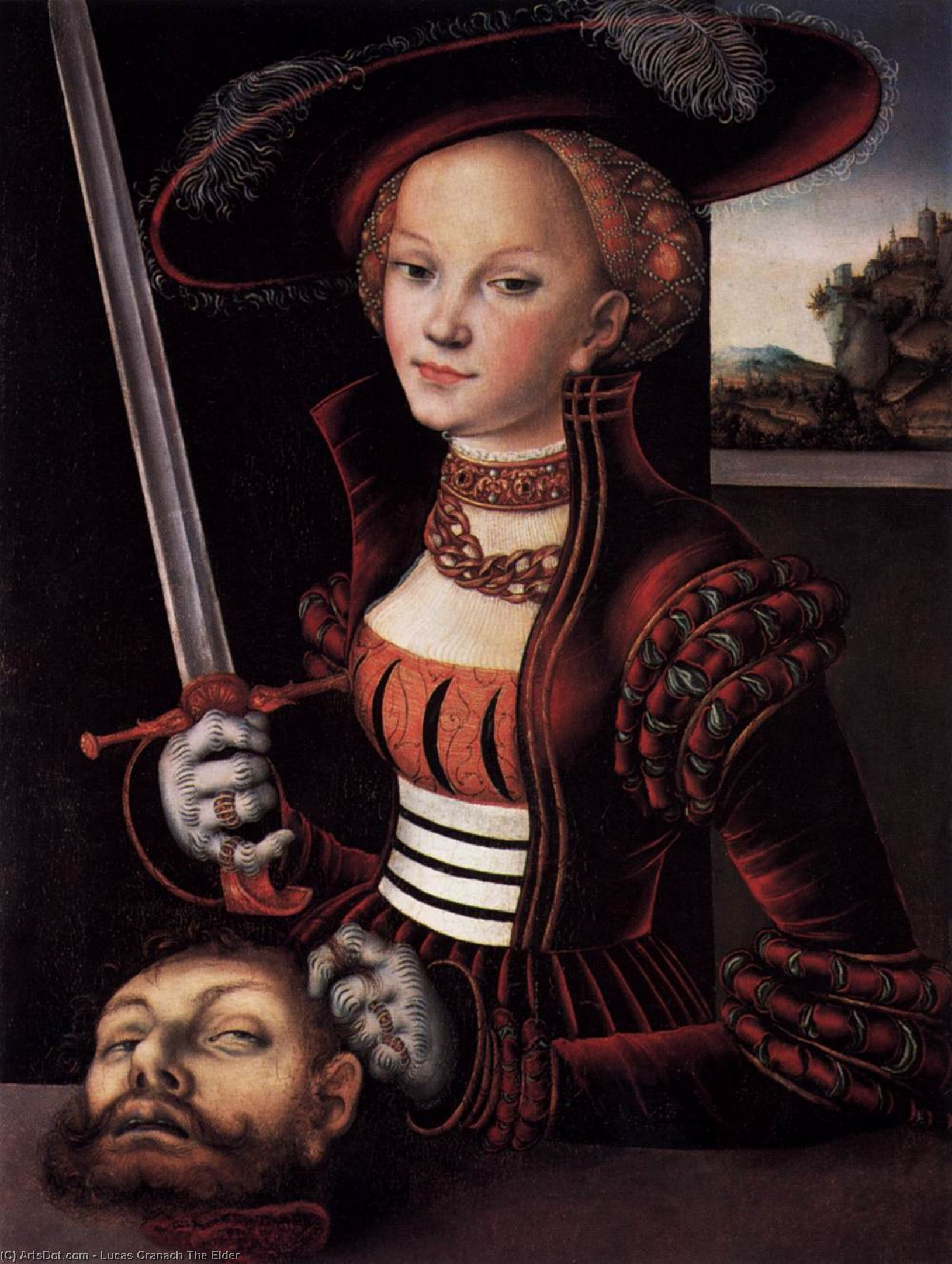 Judith Victorioso, Óleo sobre tabla de Lucas Cranach The Elder (1472-1553, Germany)