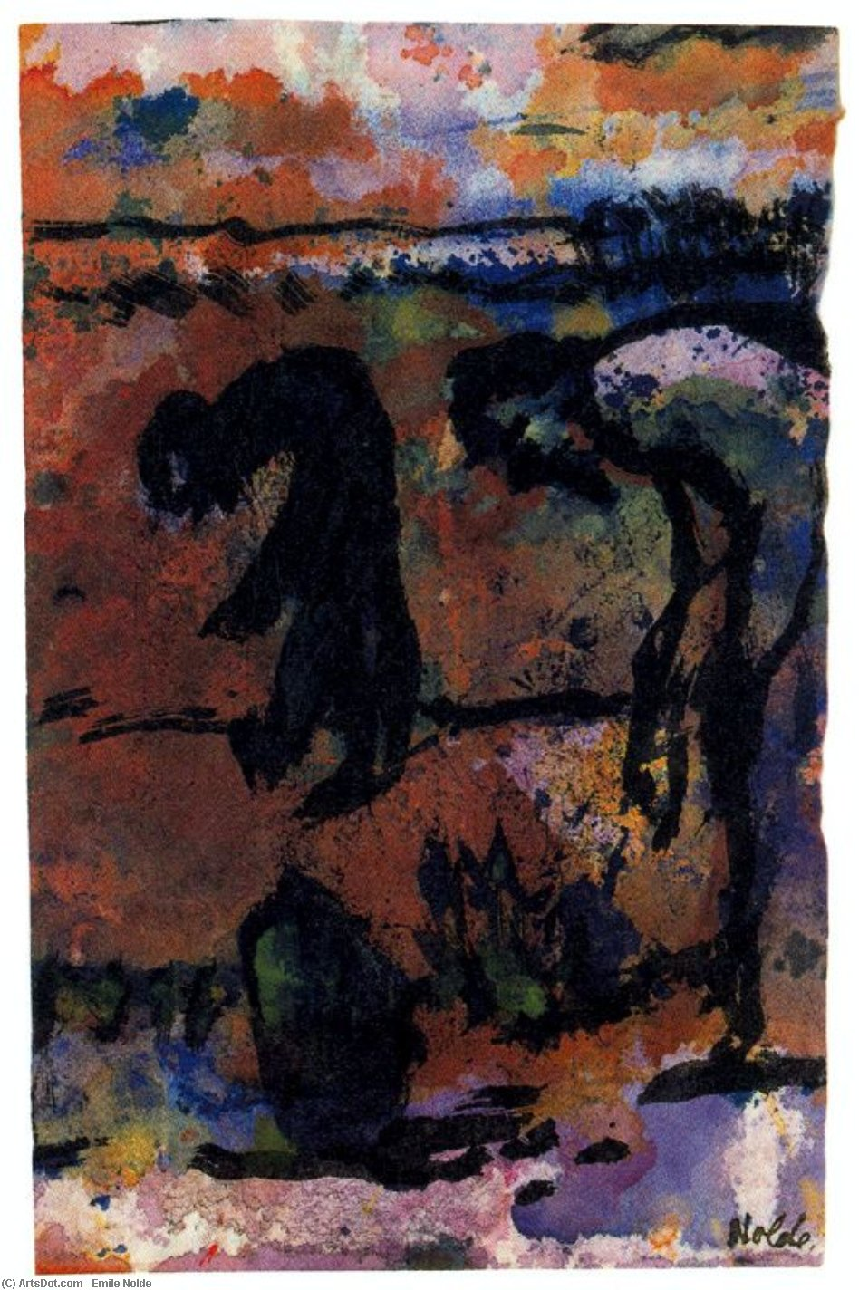 Figuras Inclinado de Emile Nolde (1867-1956, Germany)