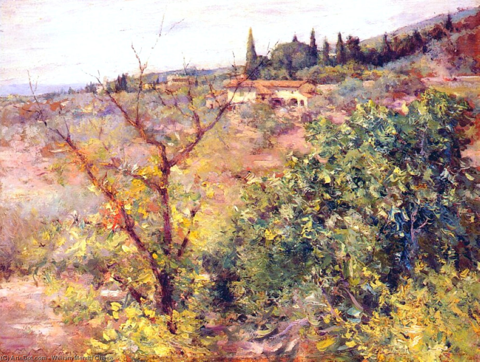 Vista de Fiesole, 1907 de William Merritt Chase (1849-1916, United States)