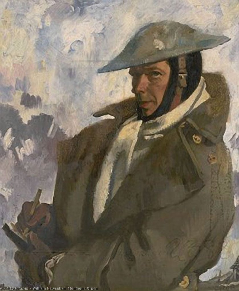 autorretrato en Uniforme , 1917 de William Newenham Montague Orpen (1878-1931, Ireland)