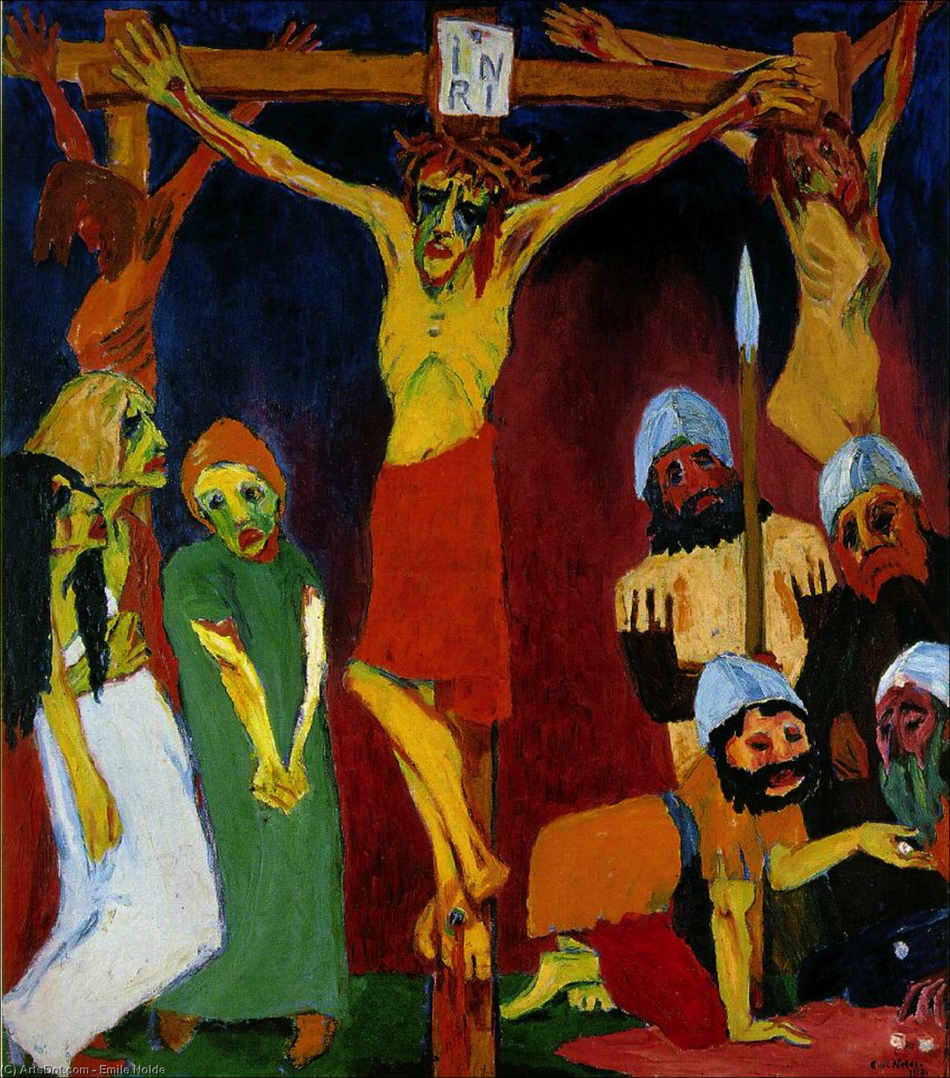 Crucifixión ,, 1912 de Emile Nolde (1867-1956, Germany)