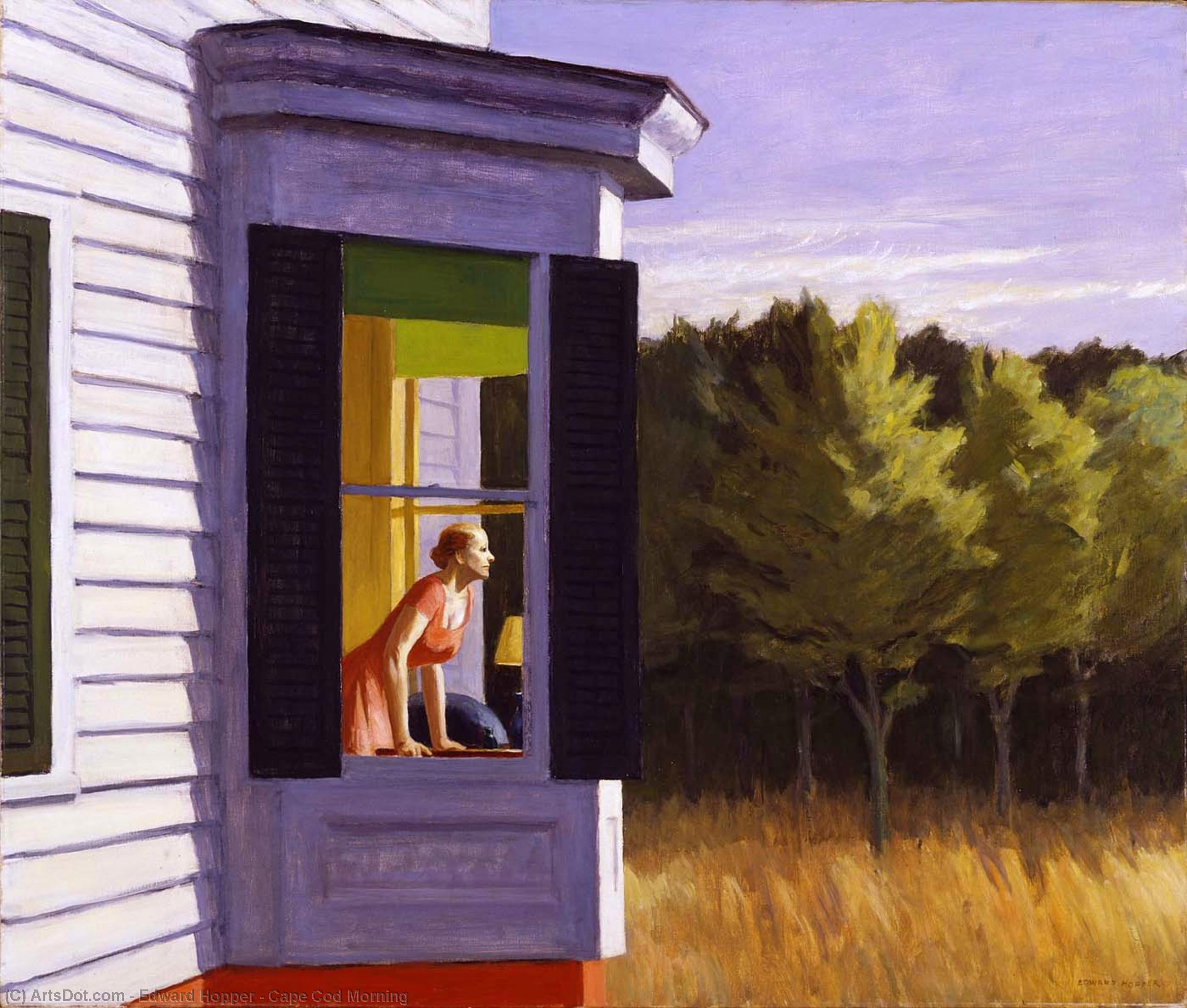 cape cod morning, 1950 de Edward Hopper (1931-1967, United States) |  | ArtsDot.com