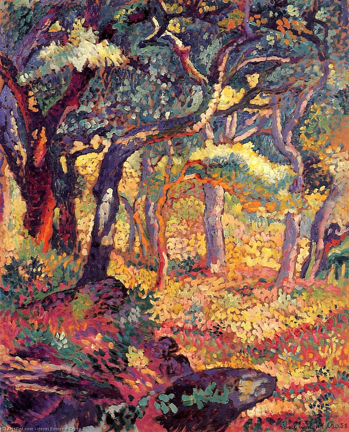 Estudio para The Clearing de Henri Edmond Cross (1856-1910, France)