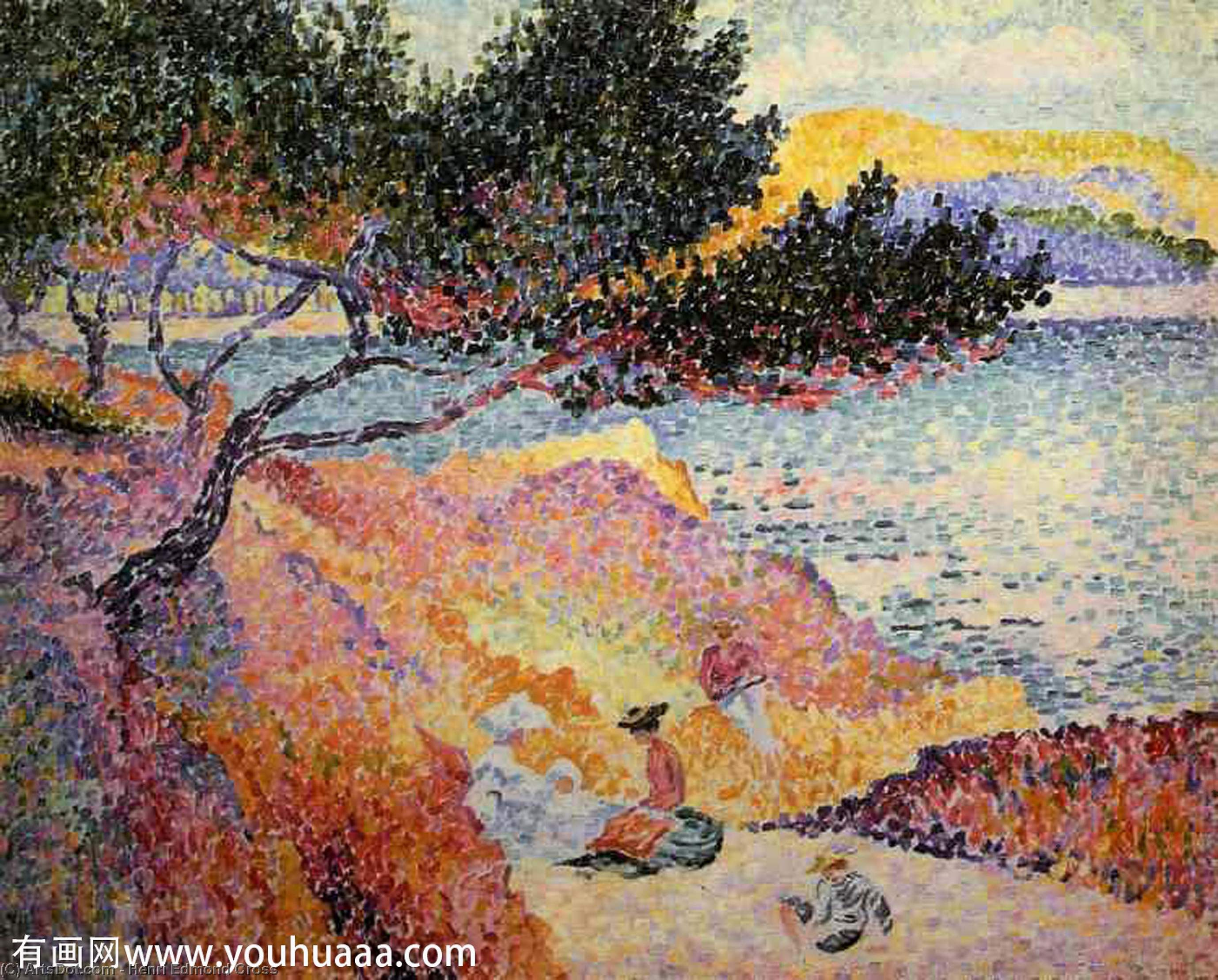 La bahía en Cavaliere de Henri Edmond Cross (1856-1910, France)