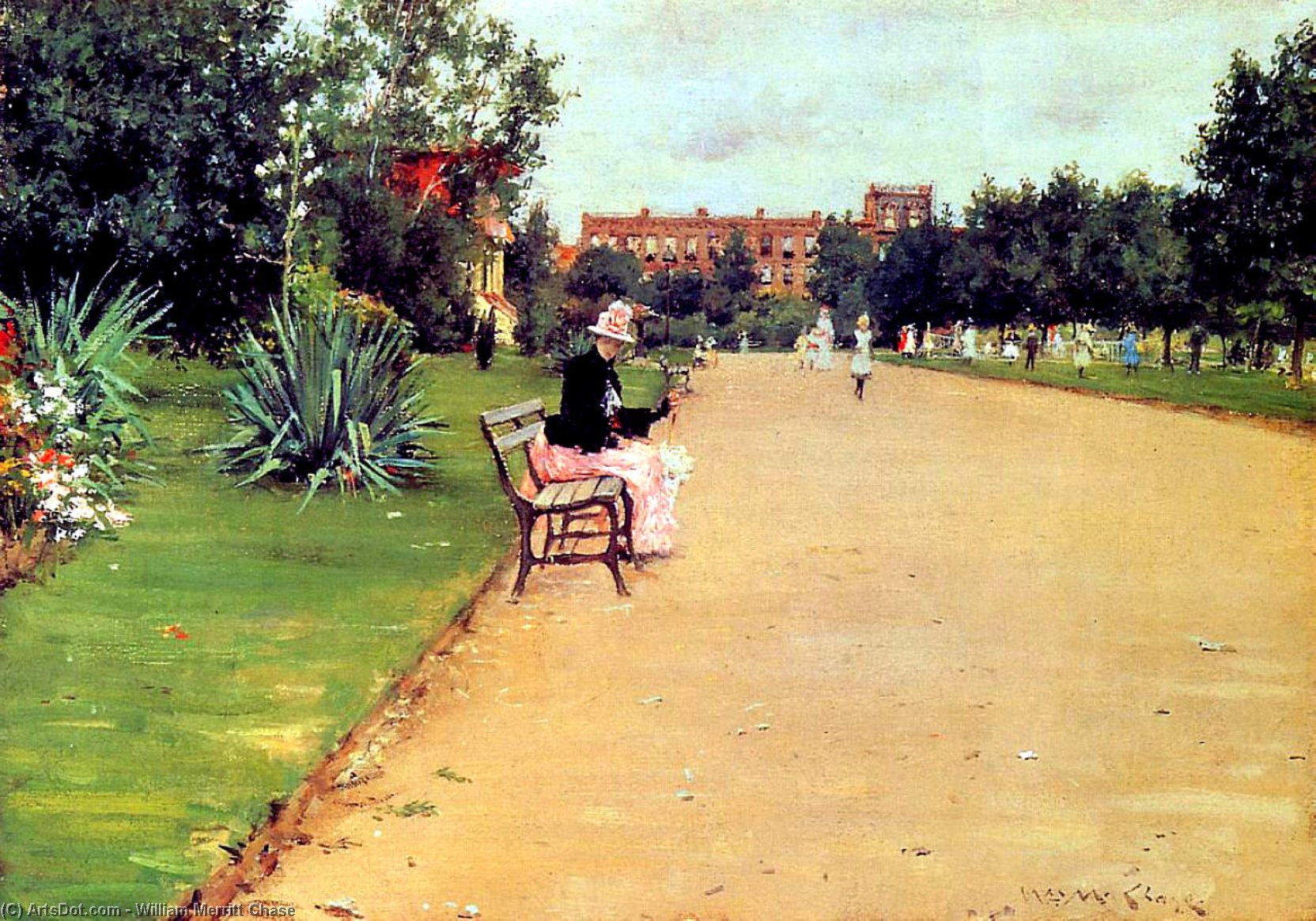 El Parque 02  , 1887 de William Merritt Chase (1849-1916, United States)