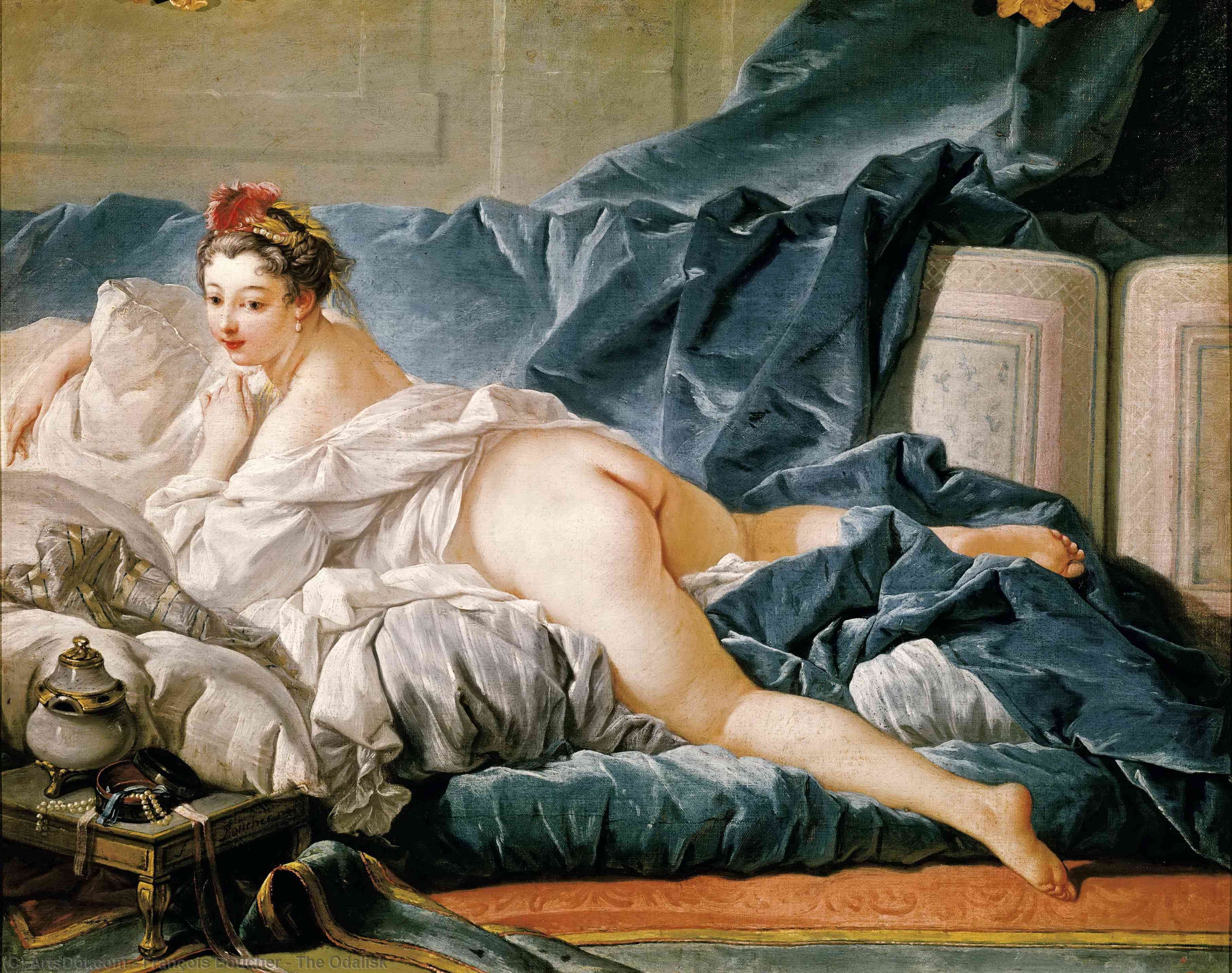 el odalisk, 1753 de François Boucher (1703-1770, France) | Grabados De Calidad Del Museo François Boucher | ArtsDot.com