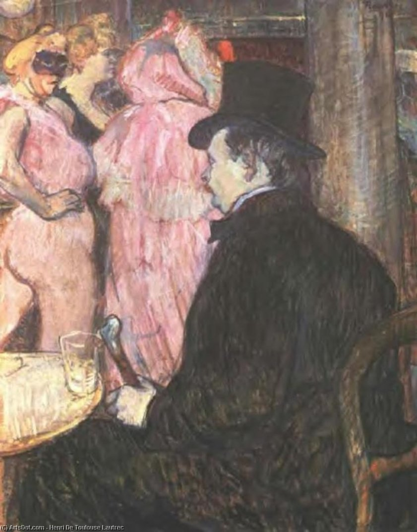 Maxime delaware Thomas en la ópera bola, 1896 de Henri De Toulouse Lautrec (1864-1901, Second French Empire)