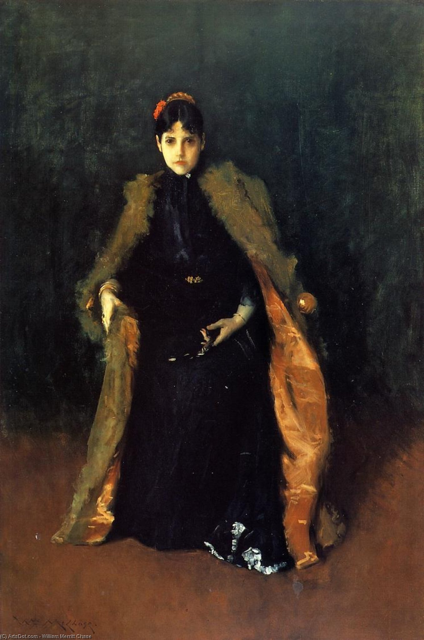 retrato de mrs . Do . ( Alicia Gerson Persecución ), 1895 de William Merritt Chase (1849-1916, United States) | ArtsDot.com
