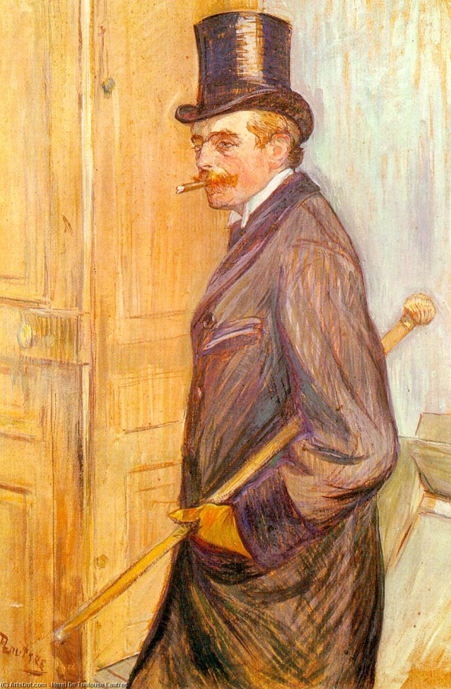 louis pascal - óleo sobre tabla -, 1891 de Henri De Toulouse Lautrec (1864-1901, Second French Empire)