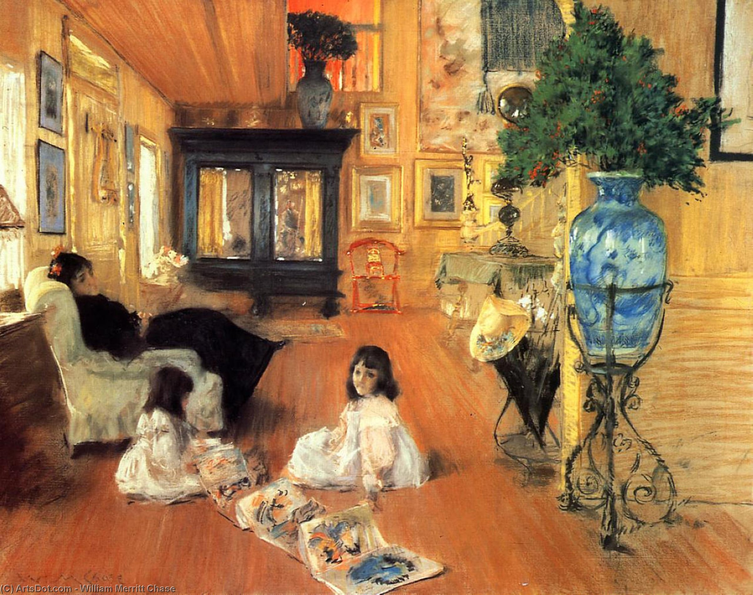 Hall en Shinnecock, 1892 de William Merritt Chase (1849-1916, United States) | Copia De La Pintura | ArtsDot.com