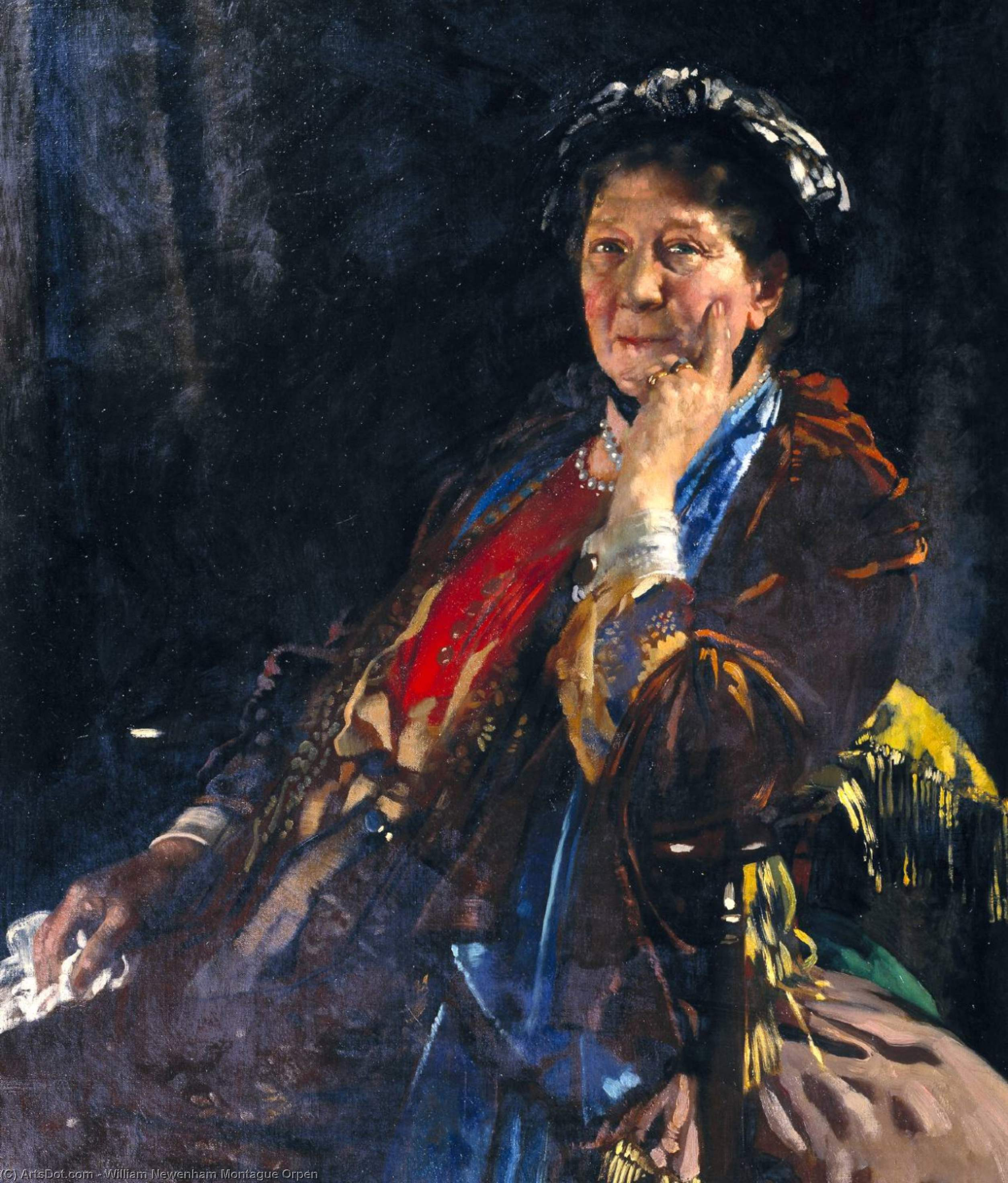 Dama madge kendal, óleo sobre lienzo de William Newenham Montague Orpen (1878-1931, Ireland)