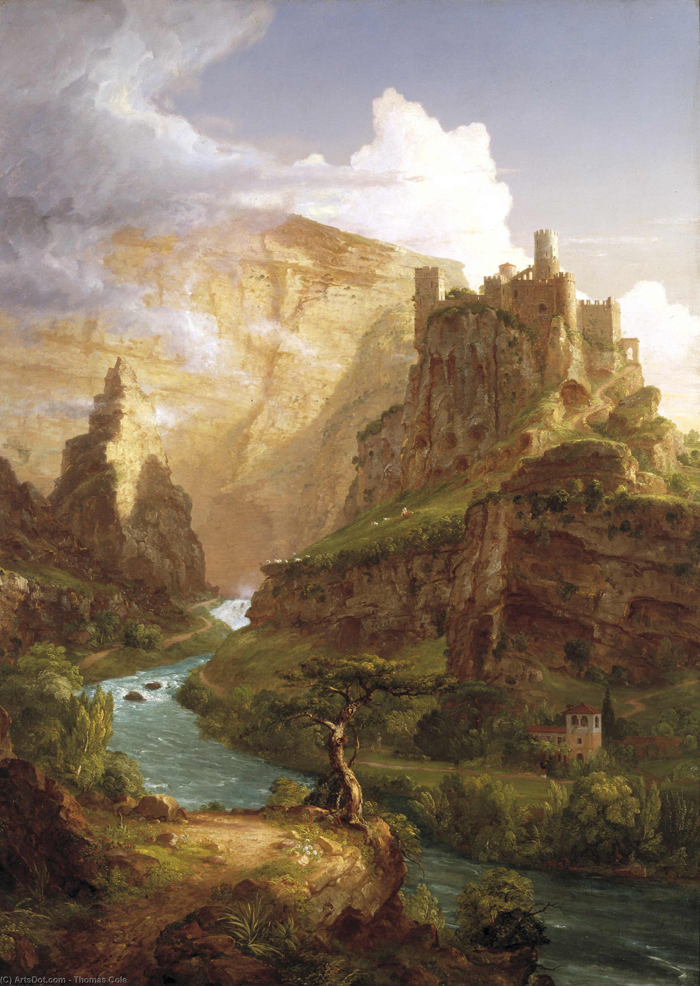 la fuente de vaucluse, 1841 de Thomas Cole (1801-1848, United Kingdom)