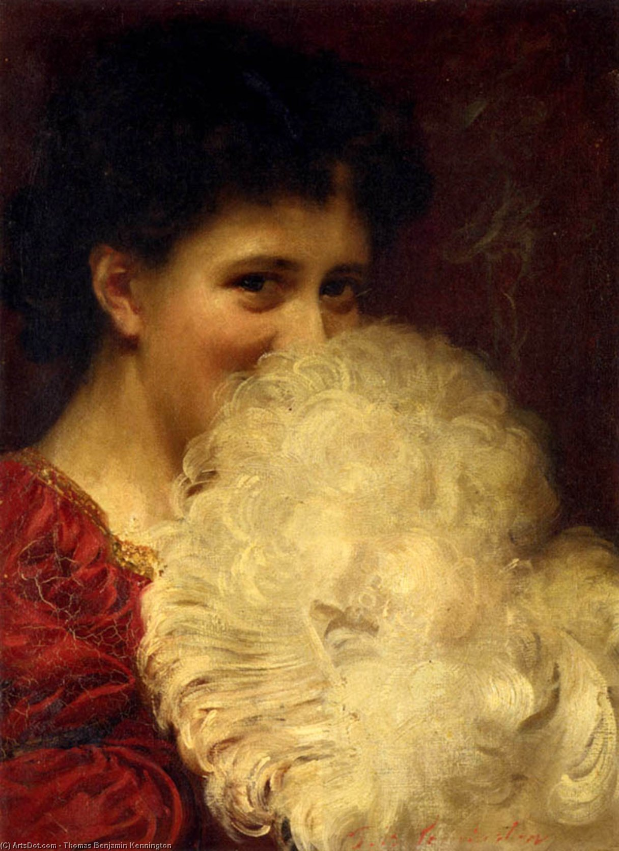 Un penacho  todaclasede  Fumar  de Thomas Benjamin Kennington (1856-1916, United Kingdom)