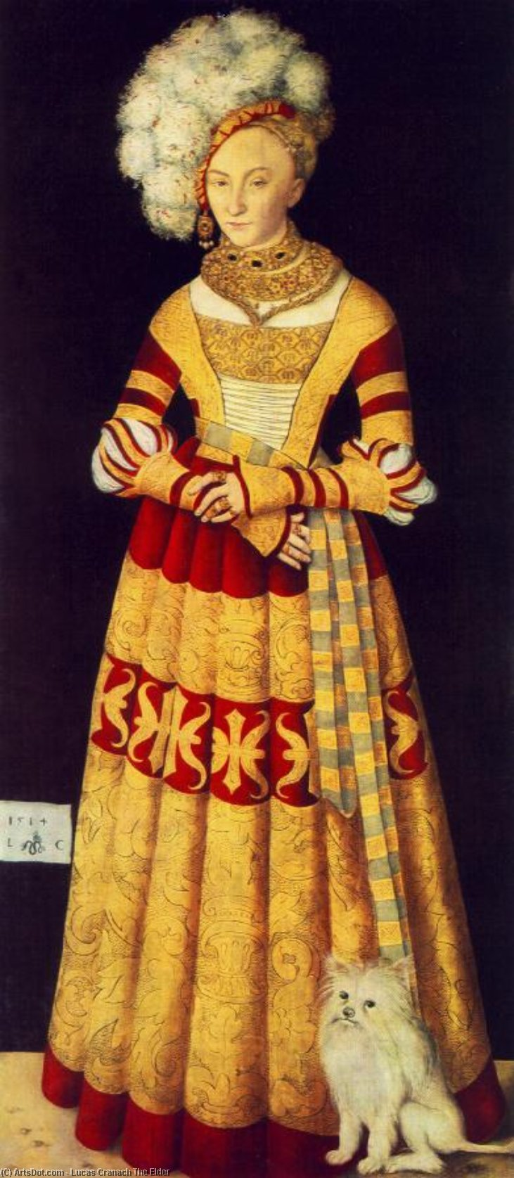 Princesa Catalina  todaclasede  Mecklemburgo , 1514 de Lucas Cranach The Elder (1472-1553, Germany)