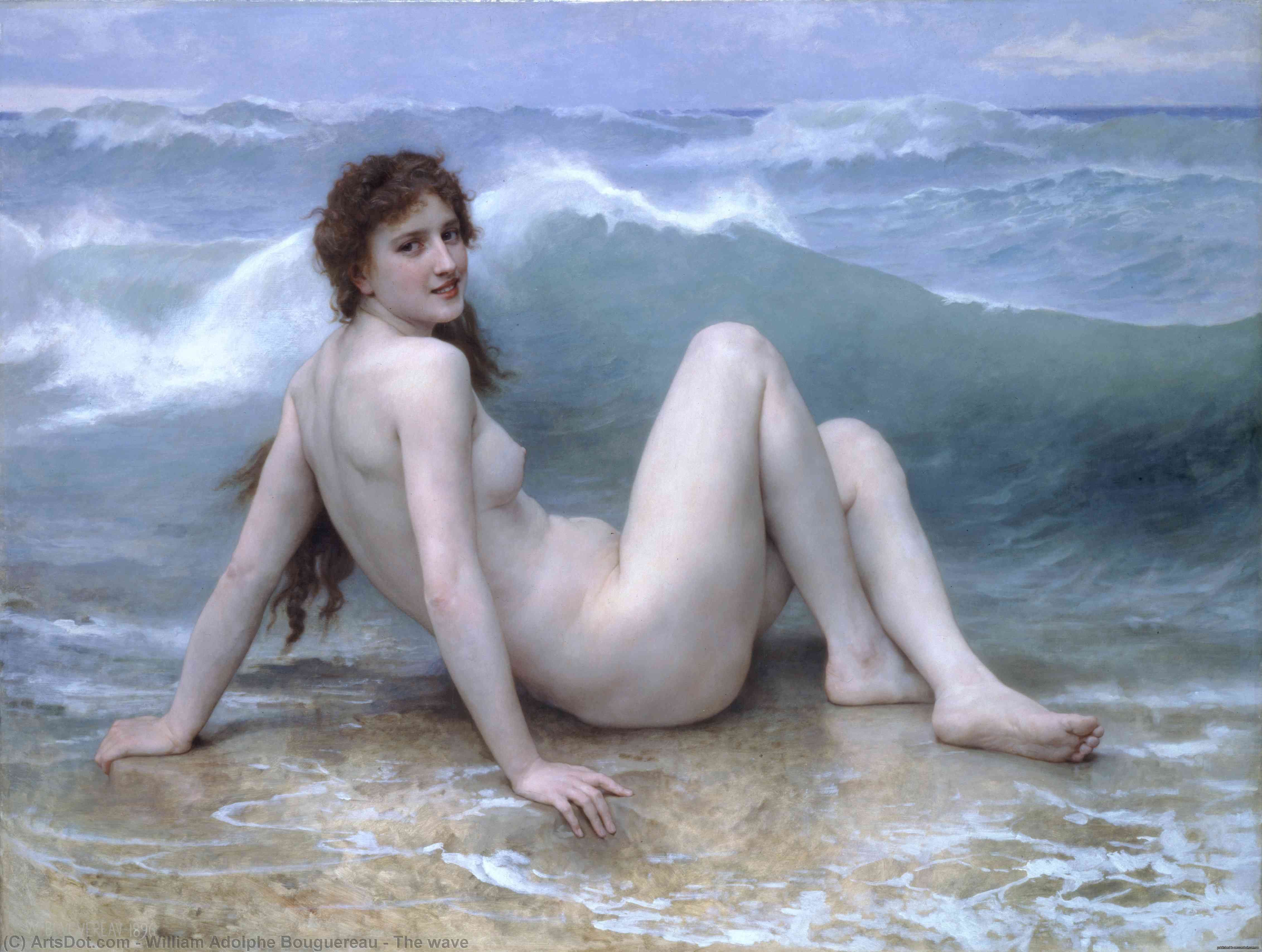 el de onda, 1896 de William Adolphe Bouguereau (1825-1905, France) | Reproducciones De Arte William Adolphe Bouguereau | ArtsDot.com