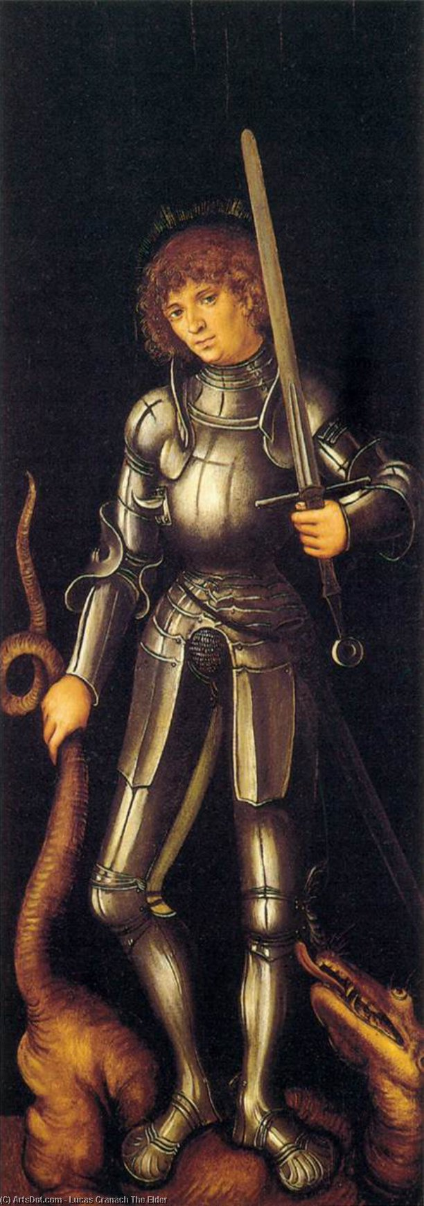 san Jorge , aceite de Lucas Cranach The Elder (1472-1553, Germany)