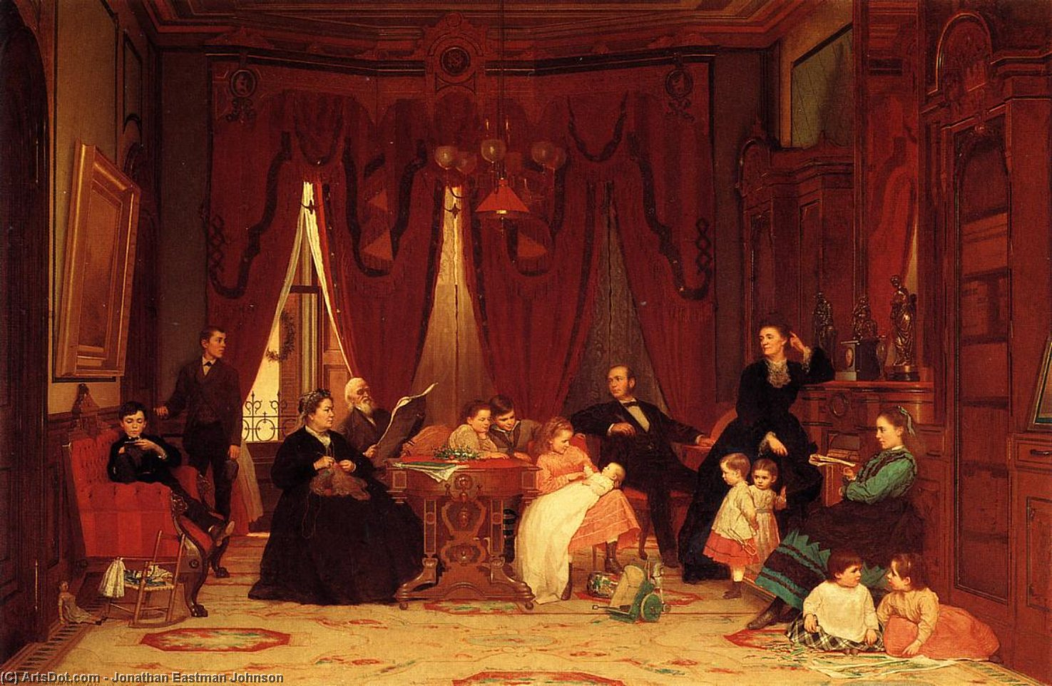 La familia Hatch de Jonathan Eastman Johnson (1824-1906, United Kingdom)