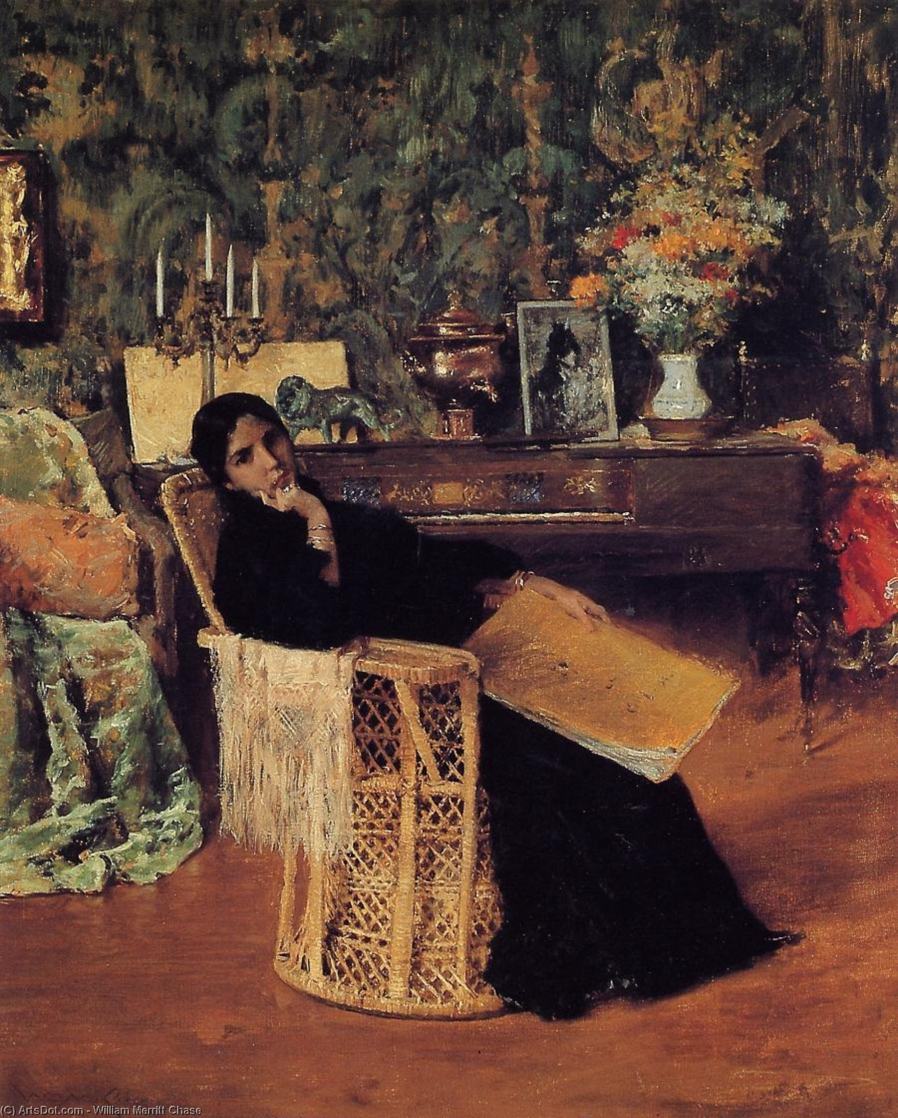 en el estudio, 1892 de William Merritt Chase (1849-1916, United States) | ArtsDot.com