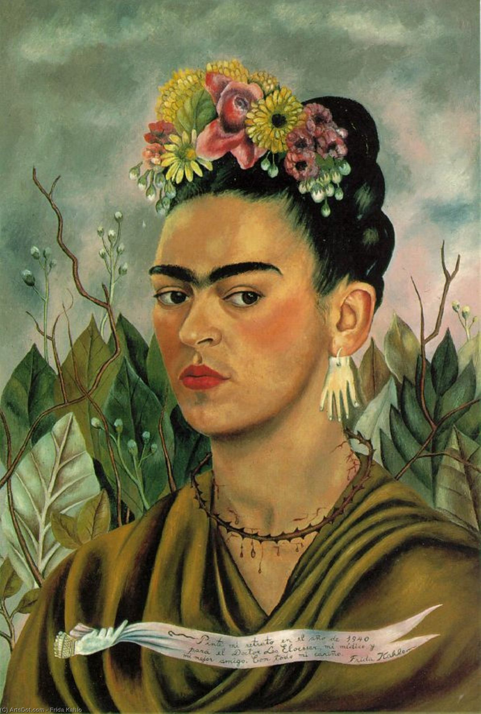 Self-Portrait dedicado para el doctor . Eloesser de Frida Kahlo (1907-1954, Mexico)