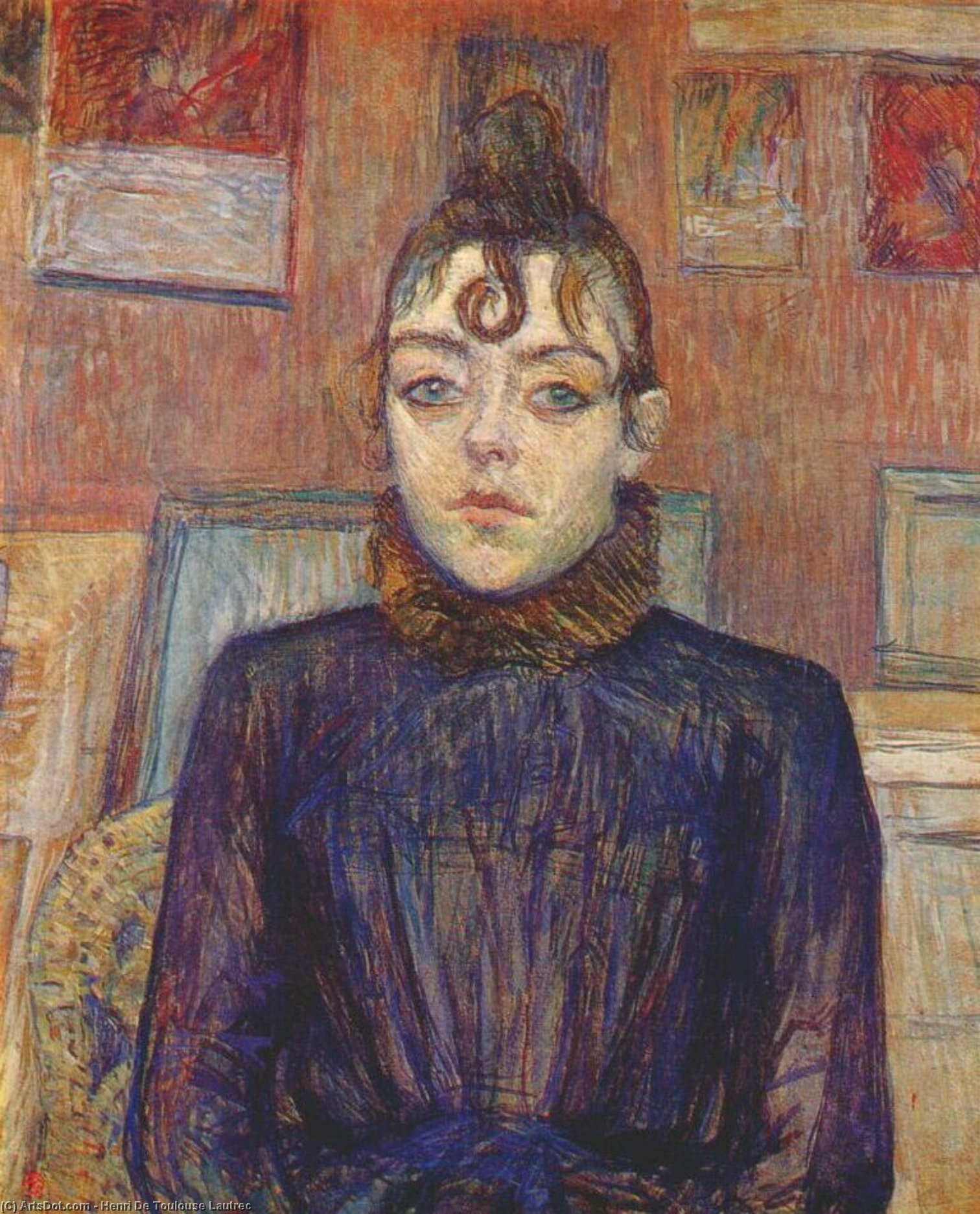 Chica con lovelock, 1889 de Henri De Toulouse Lautrec (1864-1901, France)