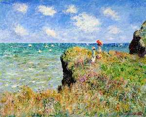 Claude Monet - clifftop walk en pourville