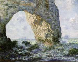 Claude Monet - arch rock west de etretat ( el manneport ) ( 1