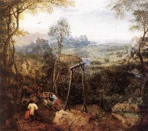 Pieter Bruegel The Elder - Urraca en el Gallow