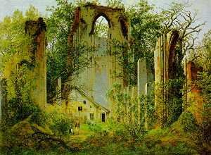 Caspar David Friedrich - Las Ruinas de Eldena Abbey1