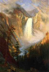 Albert Bierstadt - Cataratas de Yellowstone