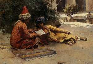 Edwin Lord Weeks - Dos árabes Lectura
