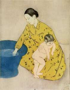 Mary Stevenson Cassatt - Los Child's Bañera 2