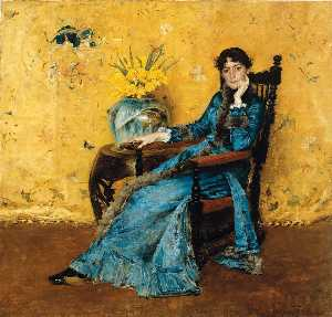 William Merritt Chase - Retrato de la señorita Dora Wh..