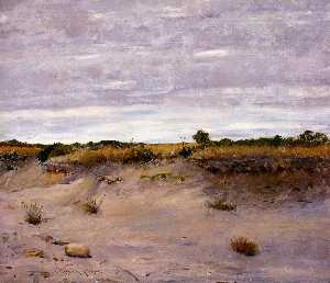 William Merritt Chase - viento sands swept , Shinnecock , isla grande