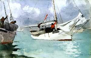 Winslow Homer - botes de pesca , key west