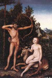 Lucas Cranach The Elder - apolo y diana en el bosque 1