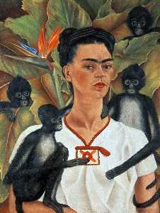 Frida Kahlo - Self-Portrait con monos