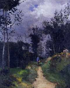 Alfred Sisley - Soldado de la guardia rural en el Bosque Fountainbleau