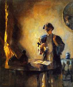 Frank Weston Benson - el interior