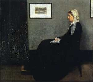 James Abbott Mcneill Whistler - arreglo en gris y negro . Retrato de el Painter-s Madre
