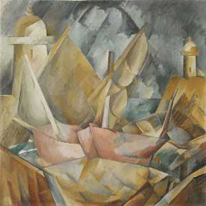 Georges Braque - puerto, en, normandía