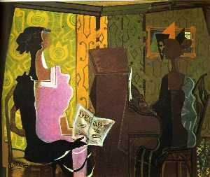 Georges Braque - el dueto ( le duo )