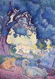 Henri Edmond Cross - Cabras