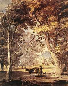 Paul Sandby - Vaquera en el Windsor Great Park