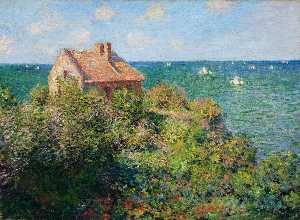 Claude Monet - Fisherman-s cottage en varengeville