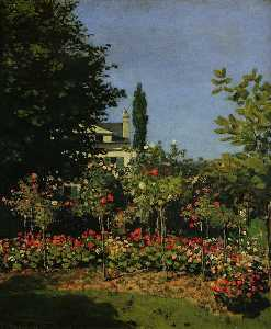Claude Monet - jardín in flor
