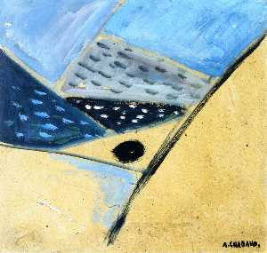 Auguste Chabaud - paisaje del abstracto