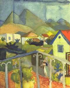 August Macke - San .  Germain near Tunis