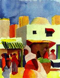 August Macke - Mercado en Argel
