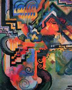 August Macke - Composición de color ( ho..